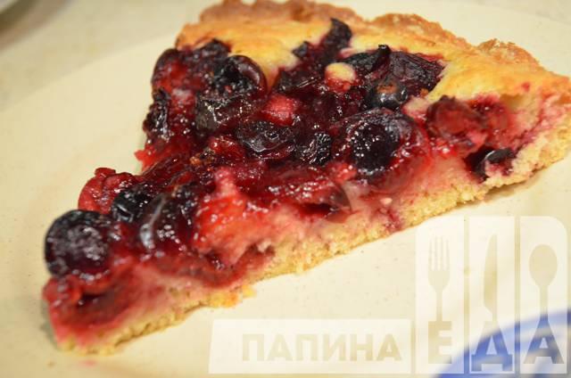 Песочное тесто пирог с ягодами