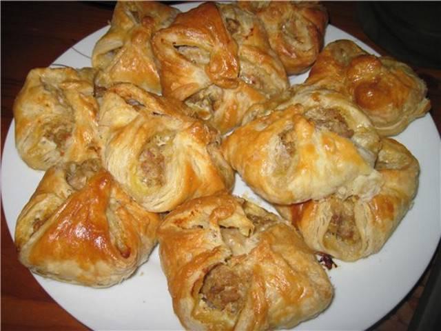 Домашние слойки с печенью рецепт с фото пошаговый Едим 57