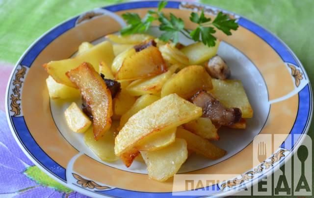 Картофель салом рецепт фото
