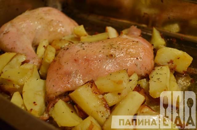 Окорочка с картофелем в духовке