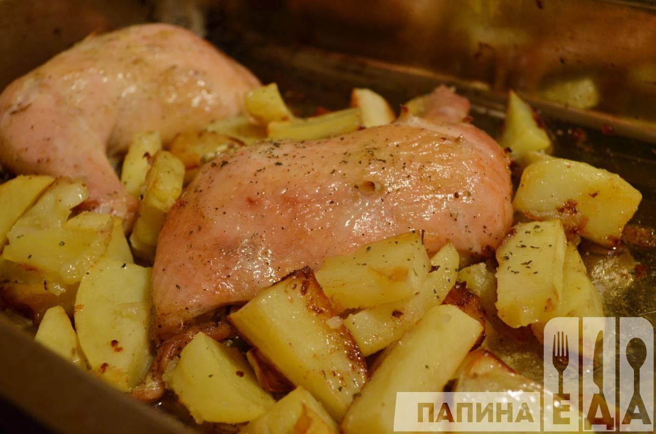 блюда из курицы с картошкой рецепты с фото