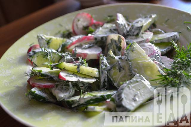 Рецепт салата с редиской с фото