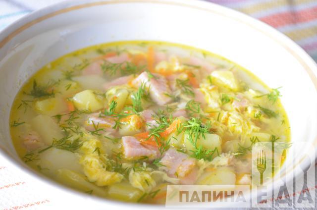 Картофельный суп с колбасой
