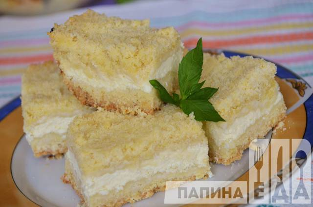 Творожный пирог с пошаговыми фото