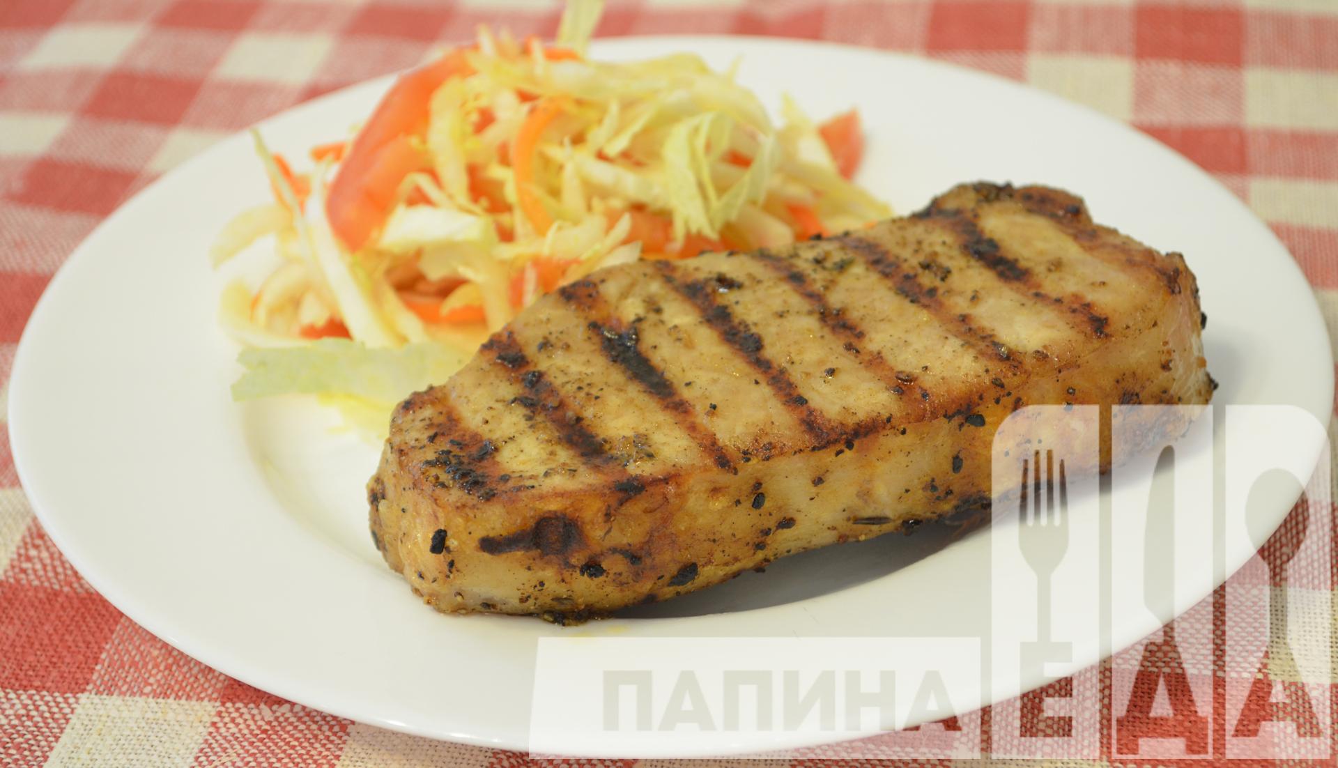 Как приготовить стейк из свинины в духовке рецепт