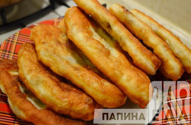 жареные пирожки с печенкой и картошкой на кефире