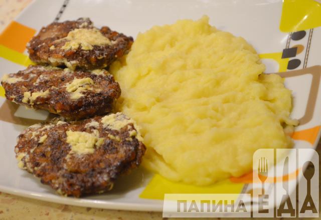 Котлеты из куриной печени с рисом рецепт пошагово