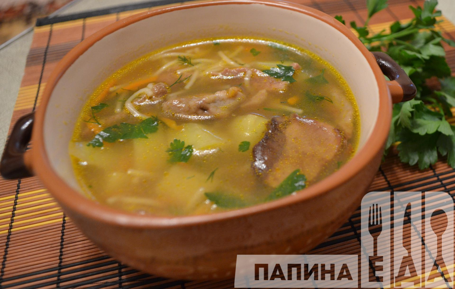 Суп с консервированными шампиньонами рецепт
