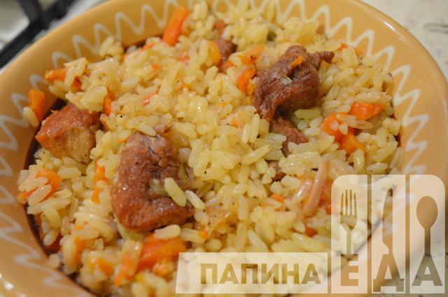 плов из свинины на сковороде рецепт с фото