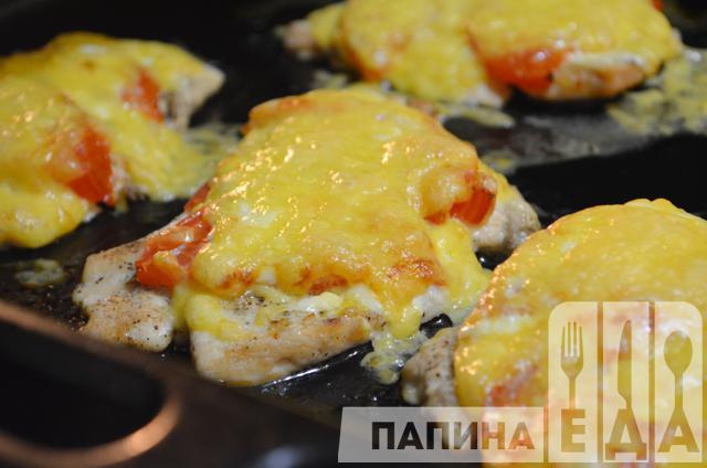 Мясо по-французски с помидорами 32