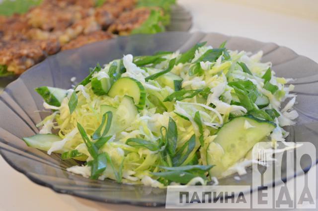 салат из огурца капусты и кукурузы