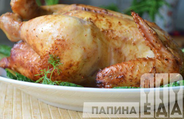 Курица в медово-соевом маринаде запеченная в духовке