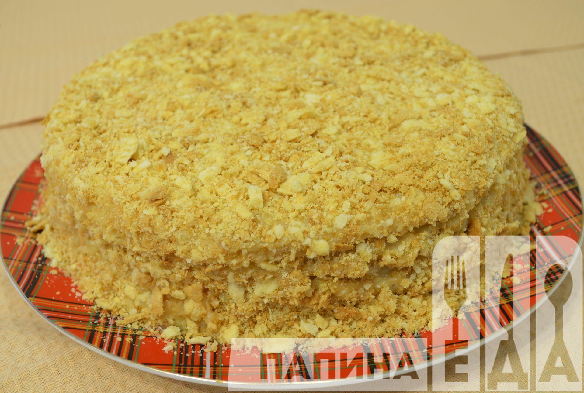 Торт Наполеон в домашних условиях - рецепт с фото 3