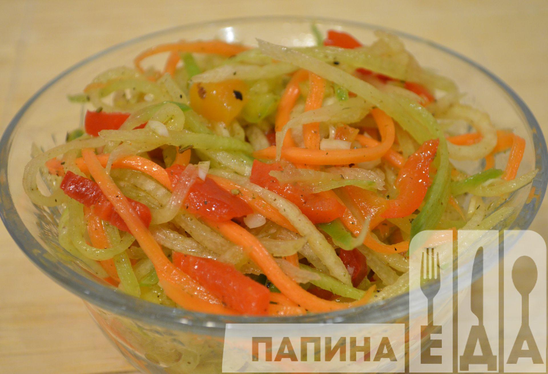 Салат с фунчозой и овощами рецепт с фото пошагово