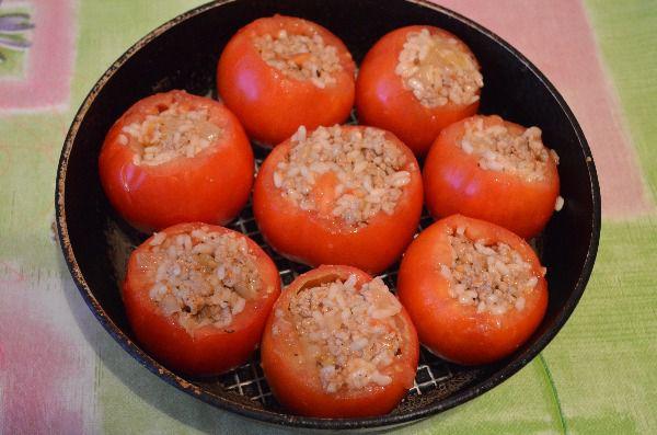 Помидоры, фаршированные рисом - рецепт пошаговый с фото