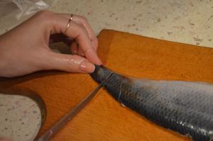 Как разделать селедку на филе, пошаговый рецепт с фото